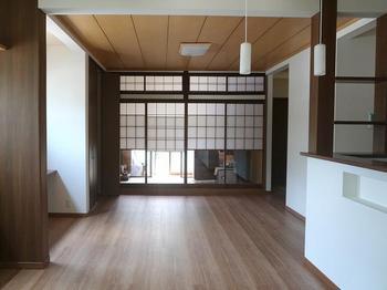 使っていなかった2間続きの和室を活用してできた、新しいLDKでくつろぐ時間が増えました 福井