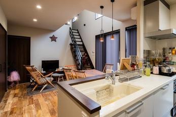 憧れの家具が似合うお気に入りの空間になりました。